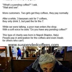 Share some #kindness warm a #strangers #heart #suspendedcoffees it's about more than the coffee