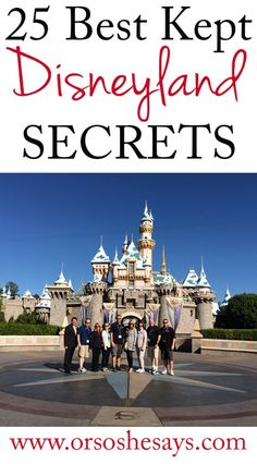 25 Best Kept Disneyland Secrets ~ Or so she says...