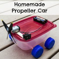 Propeller Car Homemade Propeller Car - An inexpensive, fun, first electronics project for kids who love robots.Homemade Propeller Car - An inexpensive, fun, first electronics project for kids who love robots. Electronics Projects, Simple Electronics, Kids Electronics, Car Activities, Steam Activities, Stem Projects, Science Fair Projects, School Projects, Physics Projects