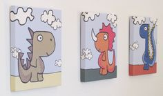 Dinosaur Wall Art  - Large Block - by YoDino on Etsy.