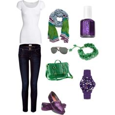 Purple and green... all day, everyday.