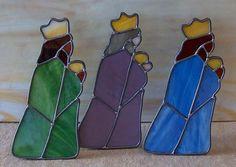 Art Glass Ensembles stained glass nativity set