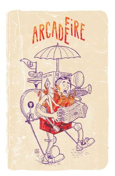 Arcade Fire Poster by CaliDosO , via Behance