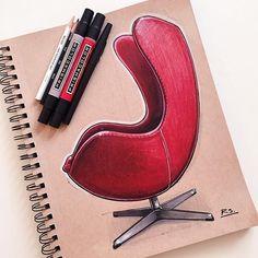 Kuvahaun tulos haulle egg chair sketch