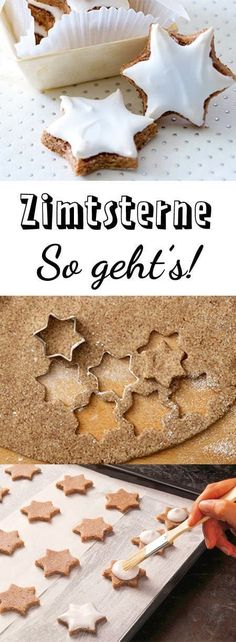 Zimtsterne recipe - so succeed the classic- Zimtsterne-Rezept – so gelingt der Klassiker With this recipe and the tips, cinnamon stars are easy to make! Baking Recipes, Cookie Recipes, Dessert Recipes, Baking Hacks, Baking Desserts, Baking Tools, Classic Desserts, Fall Desserts, Food Cakes