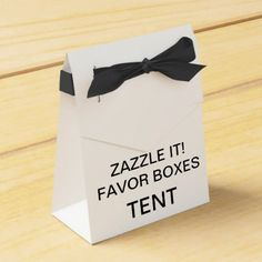 Custom Personalized Tent Favor Boxes Blank (Black) - create your own gifts personalize cyo custom