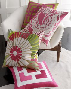 Trina Turk pillows, will order at market!
