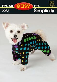 I need a seamstress - 2082 - It's So Easy Dog Clothes - It's So Easy dog coat in three sizes sewing pattern