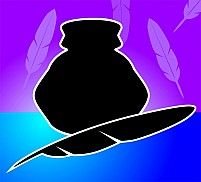 Illustration Of A Quill And Inkpot