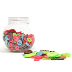 Hobbycraft Button Jar Bright Mix Assorted | Hobbycraft