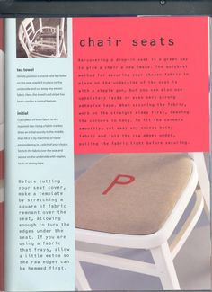 Love this chair cover idea by Petra Boase, Decoating Makeovers