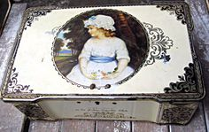 Vintage candy tin Thorne's Toffee tin by LittleBeachDesigns, $18.00
