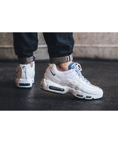 quality design 516da 140c8 Nike Air Max 95 Chalk Blue White Trainers Work is very fine, very breathable  and jumping force.