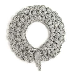 Sophie crochet collar. Handmade. Gray Baby alpaca. Fall-Winter 2012/13 collection.