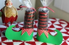 Regalo de Navidad con galletas - http://www.manualidadeson.com/regalo-de-navidad-con-galletas.html