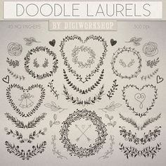 Hey, I found this really awesome Etsy listing at https://www.etsy.com/listing/226045118/doodle-laurel-clip-art-clipart-doodle