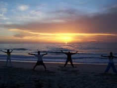 Morning Qi-gong On The Beach
