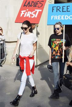 What Kendall Jenner Wore For Fashion Month #refinery29  http://www.refinery29.com/2014/09/75407/kendall-jenner-model-outfit-inspiration#slide16  After crossing a Chanel protest off her bucket list, Kendall bid adieu to Paris, the spring '15 runways, and Fashion Month.