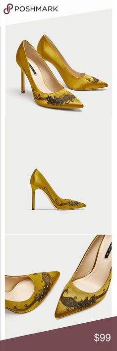 Zara Satin Court Shoe New! Sold Out!!! Size 39. Please know your size from Zara Zara Shoes Heels