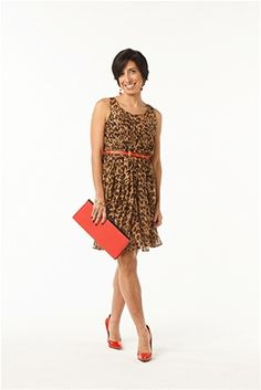 We love this adorable leopard print dress from Aryn K.