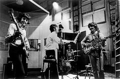 The Beatles perform their song 'All You Need Is Love' on 'Our World' the first live satellite uplink performance broadcast to the world on June 25, 1967 in London, England.