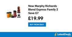 New Morphy Richards Blend Express Family 2 Save £7, £19.99 at ebay