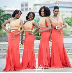 Gorgeous bridesmaids dresses by Dzyn Babe