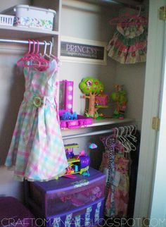Love this organized closet for my daughter