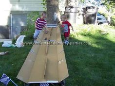 photo of homemade race track - Yahoo! Search Results  www.coolest-kid-bithday-party....