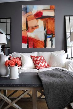 Abstract art oil painting by Danielle Nelisse | large abstract artwork for…