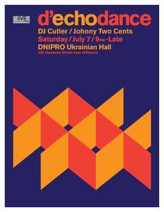 Flyer for echo Art Fair Dance Party