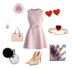 """""""Valentine's Day look"""" by jessyvore ❤ liked on Polyvore featuring мода, Chicwish, Rupert Sanderson, MICHAEL Michael Kors, Accessorize, Pandora, women's clothing, women, female и woman"""
