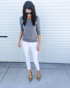 Basia does white after labor day in her J BRAND jeans. #InMyJBRAND (would wear Python print shoes in stead)