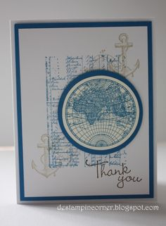 Globe Thank You Card by mrstam - Cards and Paper Crafts at Splitcoaststampers
