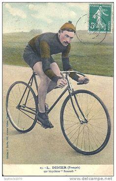 TOUR DE FRANCE - COUREUR CYCLISTE Léon DIDIER VANVES 1881 AULNAY SOUS BOIS - Bicyclette Bouroth -Gros Plan Beau Palmarès