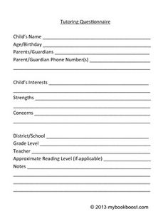 Private Tutoring Contract Template   Words, Word doc and Templates