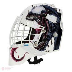 Marvel Spiderman Carnage goalie mask design art for printed vinyl concept. Helmet Design, Mask Design, Design Art, Nhl, Punisher Logo, Spectacular Spider Man, Goalie Mask, Hockey Goalie, Cool Masks