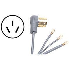 Certified Appliance 90-1084 3-Wire Range Cord (6Ft; 50A)