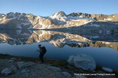 Todd Arndt backpacking through Evolution Basin on the John Muir Trail.