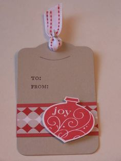 joy ornament tag by almunro - Cards and Paper Crafts at Splitcoaststampers
