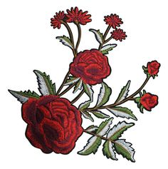 Embroidery Rose And Leaves Handwork by ZtarShop on Etsy