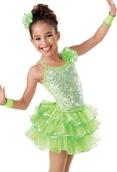 Girls' Sequin Tier Recital Dress -Weissman Costume(song- Get Happy)