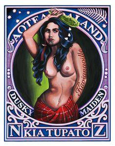 Lester Hall, Artist, Bay of Islands, Kiwiana Series. New Zealand. Polynesian People, Polynesian Art, Bay Of Islands, New Zealand Art, Nz Art, Maori Art, Kiwiana, Cool Posters, Light Art