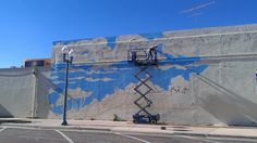 Escape mural by Megan Meier for the Laramie Mural Project. #downtownlaramie