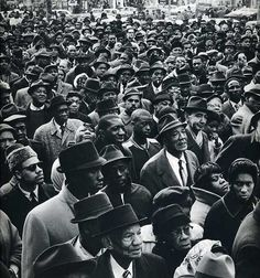 Gordon Parks. Pay attention to the expressions on people's faces. Priceless.