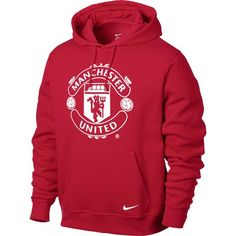 Nike Men's Manchester United Soccer Club Core Hoody - Red