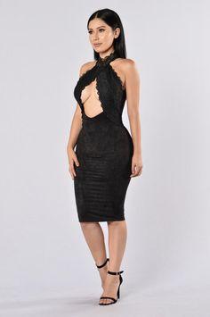 Lover's Lace Dress - Black