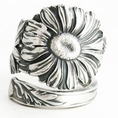 Daisy Ring Sterling Silver Spoon Ring Daisies Ring by Spoonier