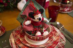 Café de manhã de Natal para as crianças com o Mickey