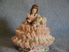 Dresden Figurine  Mother and Infant in Lace by SandECollectibles, $185.95